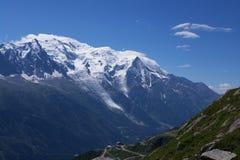 Ansicht über Mont-Blanc massiv stockfotos