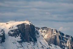 Ansicht über Montierung Paganello in Norditalien im winte Lizenzfreie Stockfotografie