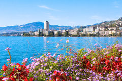 Ansicht über Montreux Lizenzfreies Stockfoto
