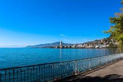 Ansicht über Montreux Stockfotografie