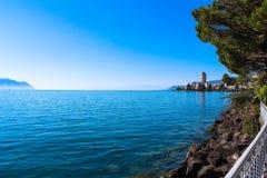 Ansicht über Montreux Stockbilder