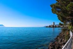 Ansicht über Montreux Stockbild