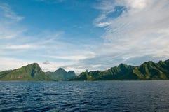 Ansicht über Moorea Insel auf französische Polinesien Stockfotografie