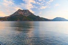 Ansicht über Moses Mountain von Adrasan-Strand morgens Die Türkei Lizenzfreie Stockbilder