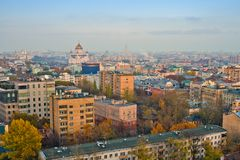 Ansicht über Moskau-alte Dächer Lizenzfreie Stockfotografie