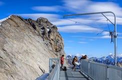 Ansicht über Mt Titlis in der Schweiz Lizenzfreies Stockfoto