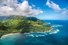 Ansicht über Napali-Küste auf Kauai-Insel auf Hawaii Stockfoto