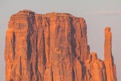 Ansicht über Osthandschuh Butte im Monument-Tal arizona Stockfotos