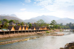 Ansicht über Pai Fluss Stockbild