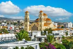 Ansicht über Paphos-Stadt lizenzfreie stockfotografie