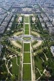 Ansicht über Parc du Champ stockbild