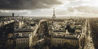 Ansicht über Paris stockbild