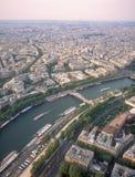 Ansicht über Paris vom Eiffelturm. Lizenzfreies Stockfoto