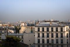 Ansicht über Paris vom montmartre stockfotos