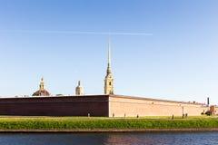 Ansicht über Peter und Paul Fortress Stockbild