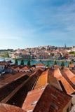 Ansicht über Porto von Vila Nova de Gaia Stockfotografie