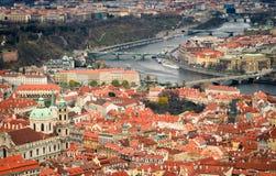 Ansicht über Prag Stockfotografie