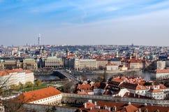 Ansicht über Prag Lizenzfreie Stockbilder