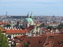 Ansicht über Prag, Tschechische Republik stockfoto