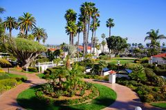 Ansicht über Promenade in San Diego Stockfoto