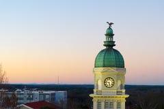 Ansicht über Rathaus in Athen, GA USA lizenzfreies stockbild