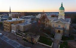 Ansicht über Rathaus in Athen, GA USA lizenzfreie stockbilder
