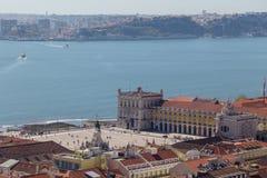 Ansicht über Reise Lissabon vom Schlosssao Jorge Stockfotografie