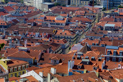 Ansicht über Reise Lissabon vom Schlosssao Jorge Lizenzfreie Stockfotos