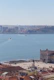 Ansicht über Reise Lissabon vom Schlosssao Jorge Lizenzfreies Stockbild