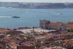 Ansicht über Reise Lissabon vom Schlosssao Jorge Stockfotos