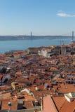 Ansicht über Reise Lissabon vom Schlosssao Jorge Lizenzfreies Stockfoto