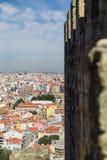 Ansicht über Reise Lissabon vom Schlosssao Jorge Lizenzfreie Stockbilder