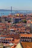 Ansicht über Reise Lissabon vom Schlosssao Jorge Stockfoto