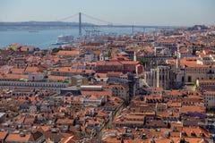 Ansicht über Reise Lissabon vom Schlosssao Jorge Stockbild