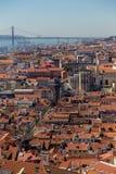 Ansicht über Reise Lissabon vom Schlosssao Jorge Lizenzfreie Stockfotografie