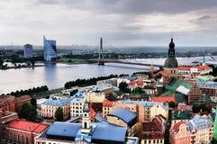 Ansicht über Riga Stockfotografie