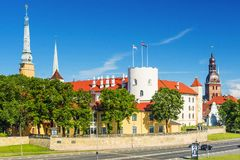Ansicht über Riga-Schloss, Lettland Lizenzfreies Stockfoto