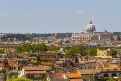 Ansicht über Rom, Italien Stockbild