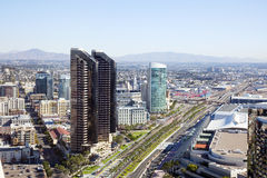 Ansicht über San Diego im Stadtzentrum gelegen Stockbilder