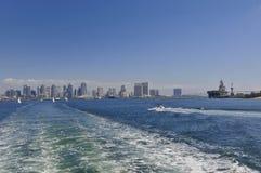 Ansicht über San Diego vom Ozean lizenzfreie stockbilder