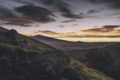 Ansicht über San José, Costa Rica bei Sonnenaufgang lizenzfreie stockfotos