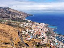 Ansicht über Santa Cruz de la Palma vom Hoch oben stockfoto