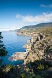 Ansicht über schöne Tasman Küstenlinie Stockfoto
