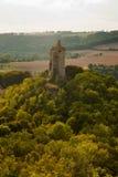 Ansicht über Schloss Saaleck Stockfotos