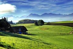 Ansicht über Schweizer Alpen stockfotografie