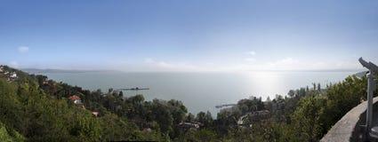 Ansicht über See Balaton bei Tihany Stockbild