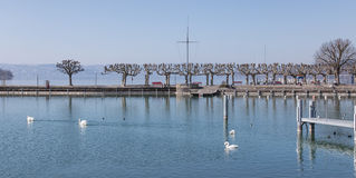 Ansicht über See Zürich in Rapperswil Lizenzfreie Stockfotos