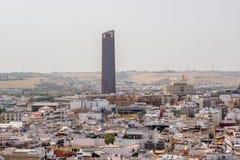 Ansicht über Sevilla-Mitte von Giralda - der Turm von SevillaÂs Kathedrale Lizenzfreies Stockbild