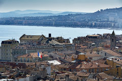 Ansicht über Stadt von Nizza auf dem französischen Riviera Lizenzfreie Stockfotografie