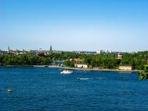 Ansicht über Stockholm und die Ostsee Lizenzfreie Stockfotografie